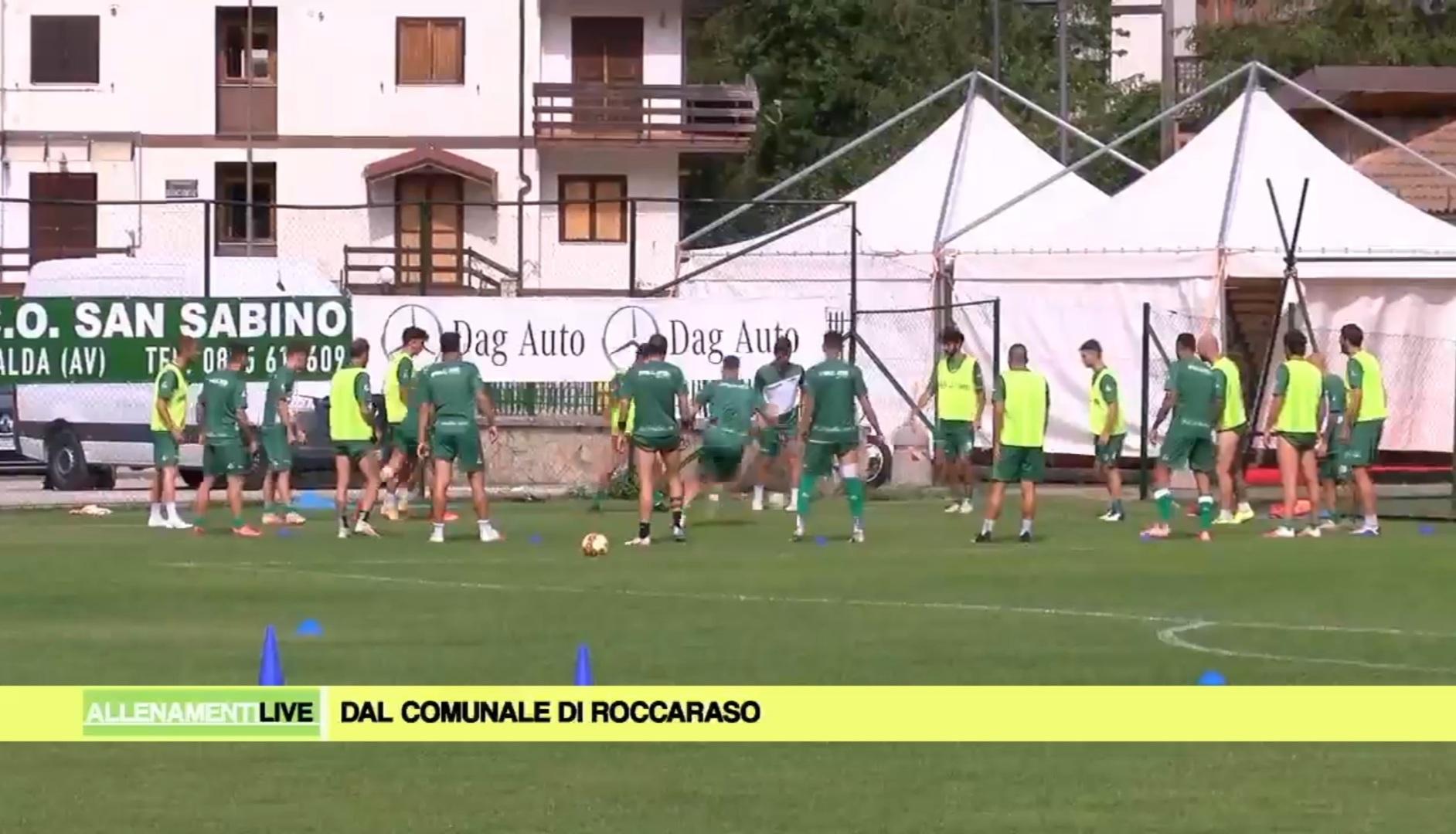 Screenshot Prima Tivvù - Ritiro Avellino